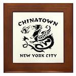 Chinatown New York City Framed Tile