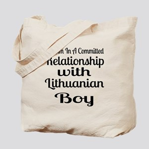 I Am In Relationship With Lithuanian Boy Tote Bag