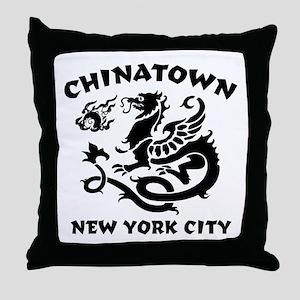 Chinatown New York City Throw Pillow