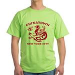 Chinatown New York City Green T-Shirt