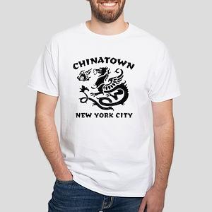 Chinatown New York City White T-Shirt