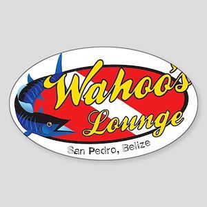 wahoos Lounge Belize Sticker (Oval)