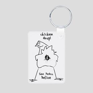 chicken_drop Aluminum Photo Keychain