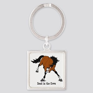 Send in the Cows Square Keychain