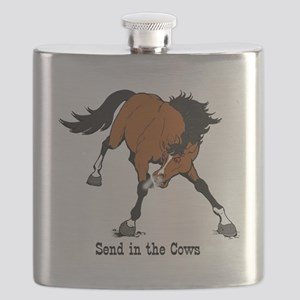 Send in the Cows Flask