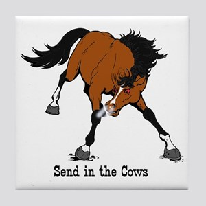 Send in the Cows Tile Coaster