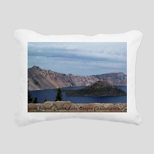 Wizard Island Rectangular Canvas Pillow
