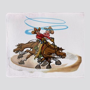 Reining Horse Spin Throw Blanket