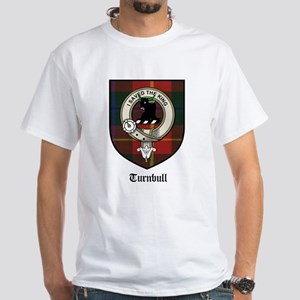 Turnbull Clan Crest Tartan White T-Shirt