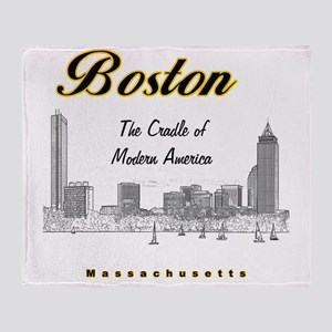 Boston_10x10_Skyline_TheCradleOfMode Throw Blanket