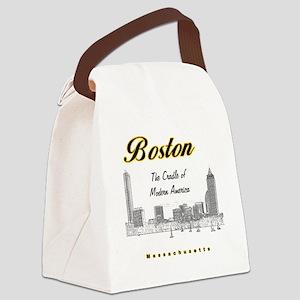 Boston_10x10_Skyline_TheCradleOfM Canvas Lunch Bag