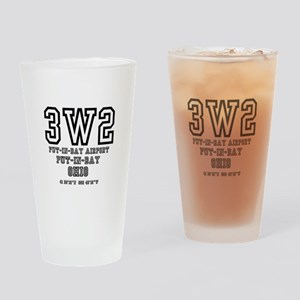 AIRPORT CODES - 3W2 - PUT IN BAY, O Drinking Glass