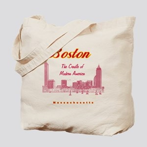 Boston_10x10_Skyline_TheCradleOfModernAme Tote Bag