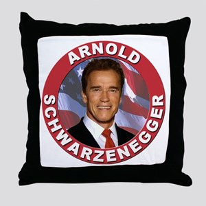 Arnold Schwarzenegger Throw Pillow
