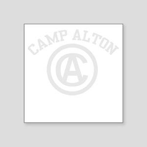 "camp alton shirt logo white Square Sticker 3"" x 3"""