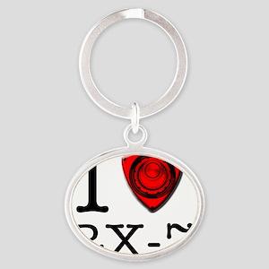 i-love-rx7 Oval Keychain