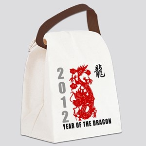 dragon61light Canvas Lunch Bag