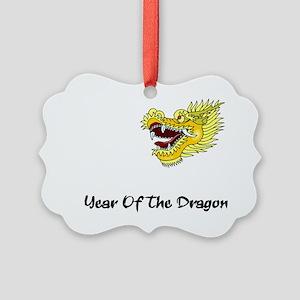 dragon60red Picture Ornament