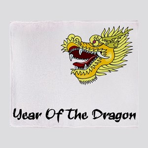 dragon60red Throw Blanket