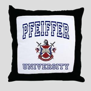 PFEIFFER University Throw Pillow
