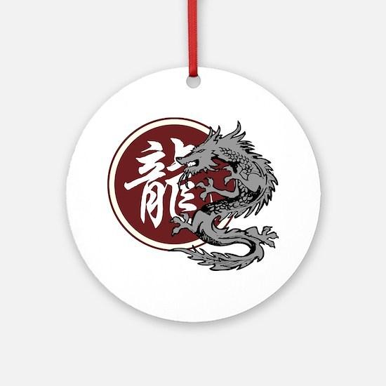 dragon51light Round Ornament
