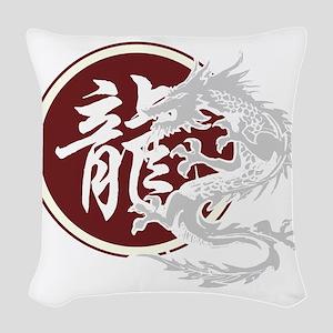 dragon51black Woven Throw Pillow