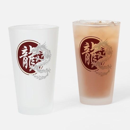 dragon51black Drinking Glass