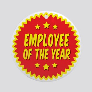 employee-of-the-year-001 Round Ornament