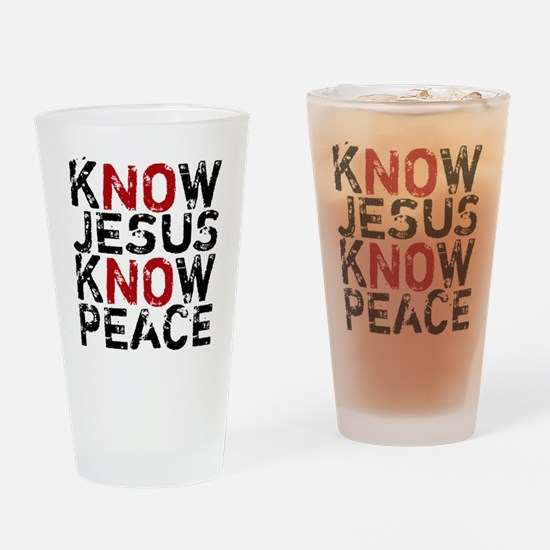 KnowJesus Drinking Glass