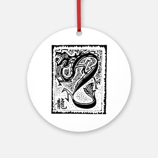 dragon50light Round Ornament