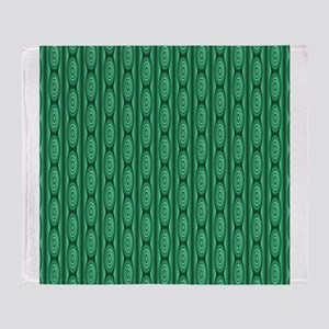 Emerald Green Abstract Stripes. Throw Blanket
