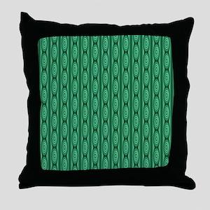 Emerald Green Abstract Stripes. Throw Pillow