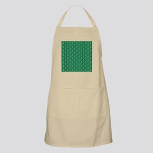 Emerald Green Abstract Stripes. Apron