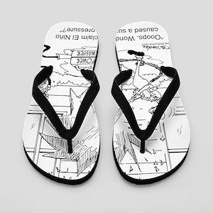 731212c3258d1e 6414 power washer cartoon Flip Flops