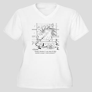 6414_power_washer Women's Plus Size V-Neck T-Shirt
