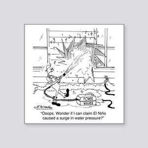 "6414_power_washer_cartoon Square Sticker 3"" x 3"""