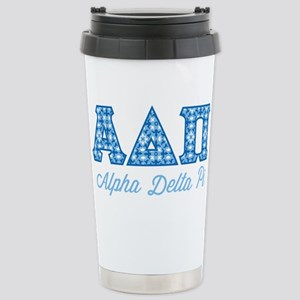 Alpha Delta Pi Diamonds Stainless Steel Travel Mug