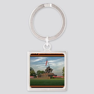 Iwo Jima Memorial Square Keychain