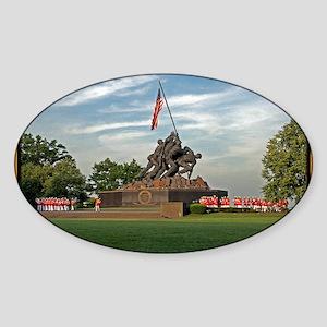 Iwo Jima Memorial Sticker (Oval)