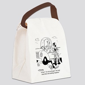 6349_inspection_cartoon Canvas Lunch Bag