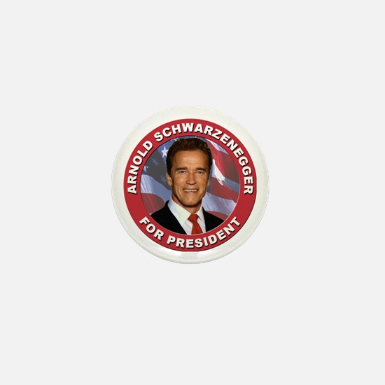 Arnold Schwarzenegger for President Mini Button