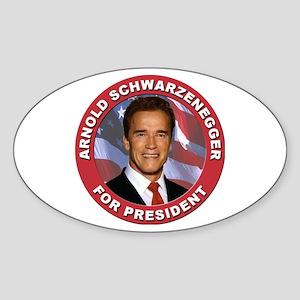 Arnold Schwarzenegger for President Oval Sticker