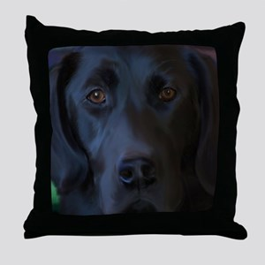 BlackLabFLipFlops Throw Pillow