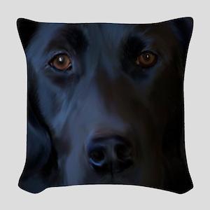 BlackLabFLipFlops Woven Throw Pillow