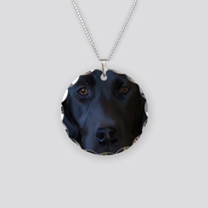 BlackLabFLipFlops Necklace Circle Charm