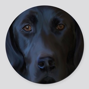 BlackLabFLipFlops Round Car Magnet