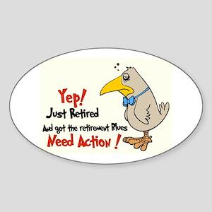 Yep Need Action! :-) Oval Sticker