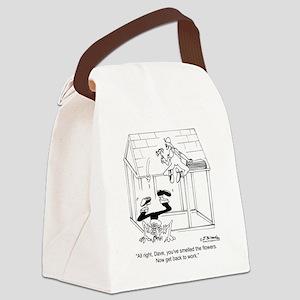 6347_flower_cartoon Canvas Lunch Bag