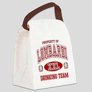 Lombardi Italian Drinking Team Canvas Lunch Bag