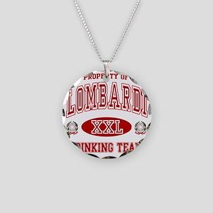 Lombardi Italian Drinking Te Necklace Circle Charm